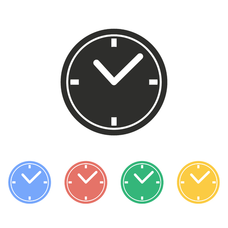 Clock vector icon. Illustration isolated on white background for graphic and web design.