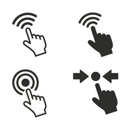 Touch vector icons set. Illustration isolated for graphic and web design.