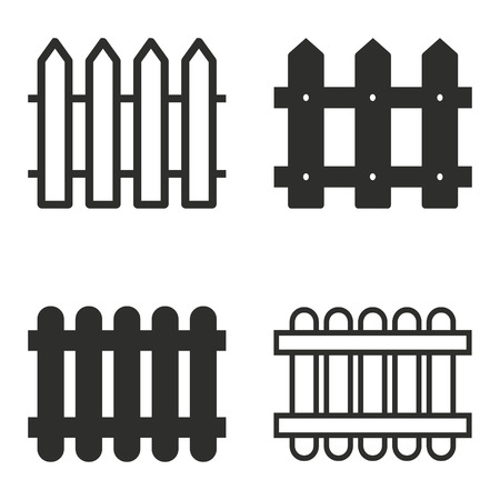 dissociation: Fence vector icons set. Illustration isolated for graphic and web design. Illustration