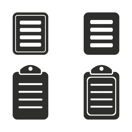 web portal: Menu vector icons set. Illustration isolated for graphic and web design. Illustration
