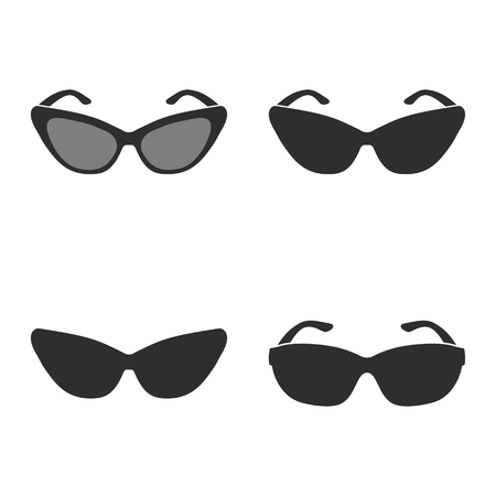 aviators: Sunglasses vector icons set. Illustration isolated for graphic and web design.