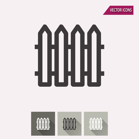 bucolic: Fence vector icon. Illustration isolated for graphic and web design.