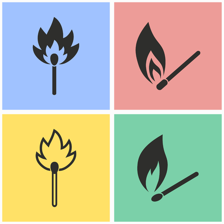 Match vector icons set. Illustration isolated for graphic and web design. Illustration