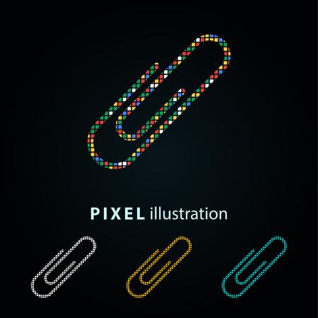 Link - pixel icon. Vector Illustration.