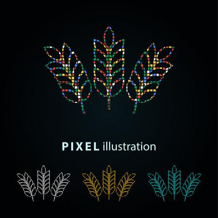 Barley - pixel icon. Vector Illustration. Illustration