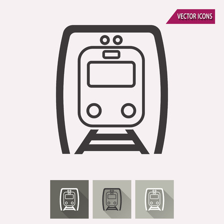 locomotion: Metro vector icon. Illustration isolated for graphic and web design.