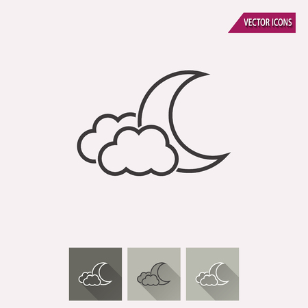 lullaby: Moon star vector icon. Illustration isolated for graphic and web design. Illustration