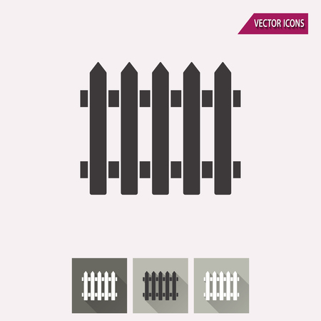 dissociation: Fence vector icon. Illustration isolated for graphic and web design.