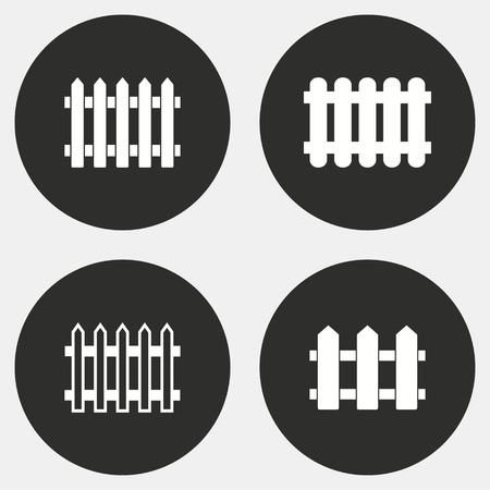dissociation: Fence vector icons set. White illustration isolated for graphic and web design. Illustration