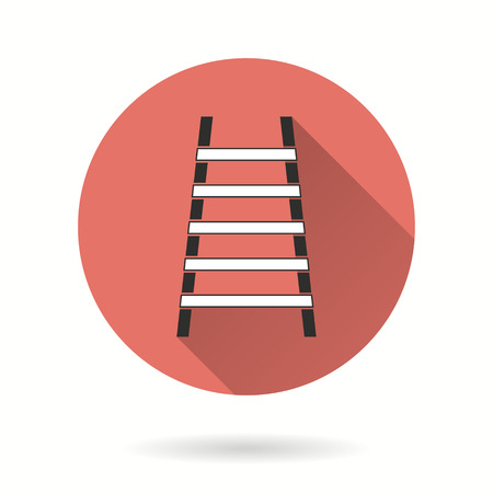 Ladder vector icon. Illustration isolated for graphic and web design.