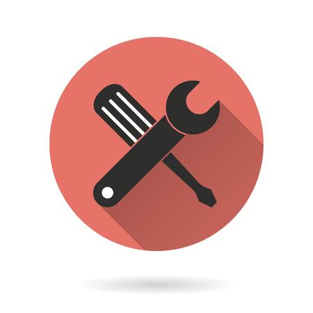 Tool vector icon. Illustratie die voor grafische en webdesign.