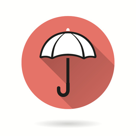 Umbrella vector icon. Illustration isolated for graphic and web design.