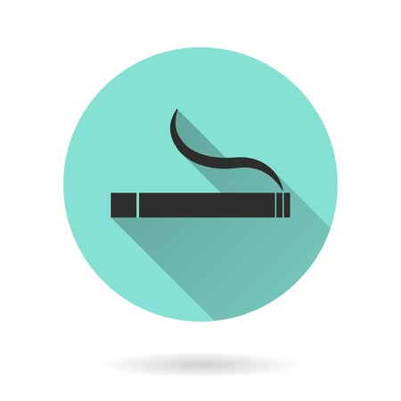 smoldering: Smoke vector icon. Black illustration isolated on green background for graphic and web design.