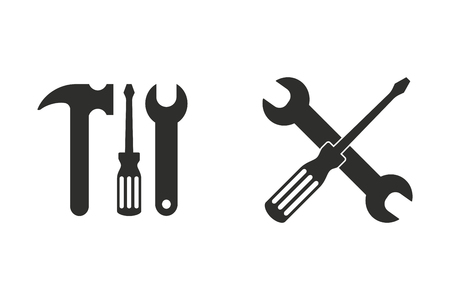 Tool vector icon. Black illustration isolated on white background for graphic and web design. Illustration