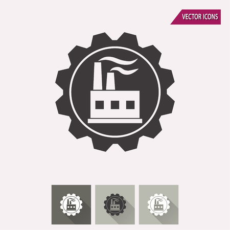 distillery: Factory vector icon. Illustration isolated for graphic and web design.