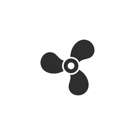aeration: Fan vector icon. Black illustration isolated on white background for graphic and web design.