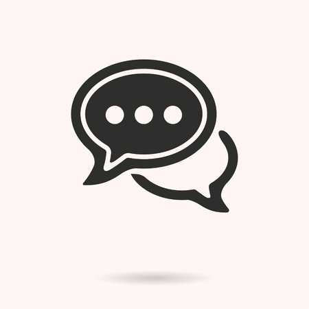 Chatting vector icon. Black illustration isolated on white background for graphic and web design.