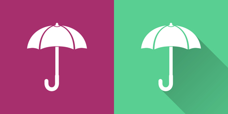 brolly: Umbrella vector icon. Illustration isolated for graphic and web design.