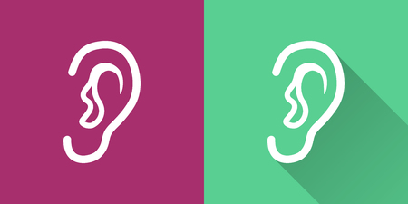 Ear vector icon. Illustration isolated for graphic and web design. Illustration
