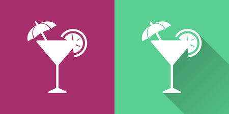 Cocktail vector icon. Illustration isolated for graphic and web design.