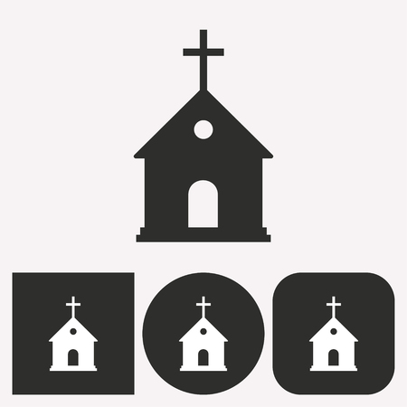 alter: Church vector icon. Illustration isolated for graphic and web design. Illustration
