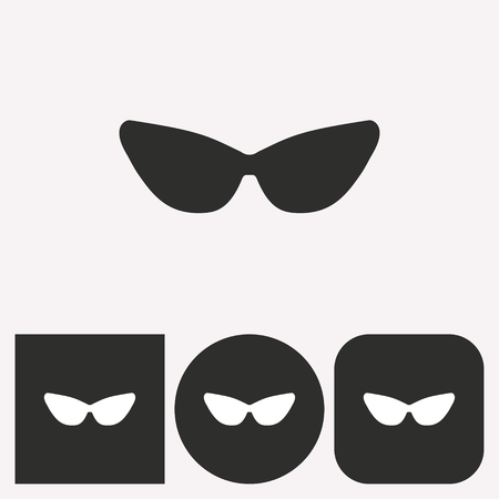 aviators: Sunglasses vector icon. Illustration isolated for graphic and web design.