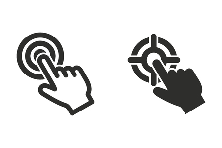 Touch vector icon. Illustration isolated for graphic and web design.