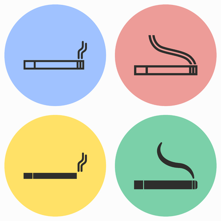 pernicious: Smoke vector icons set. Illustration isolated for graphic and web design.
