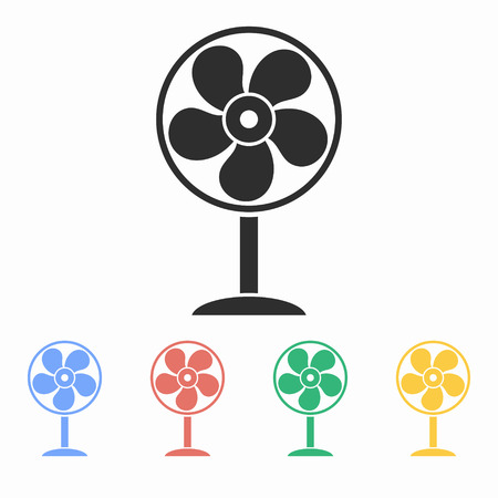 aeration: Fan vector icon. Illustration isolated for graphic and web design. Illustration