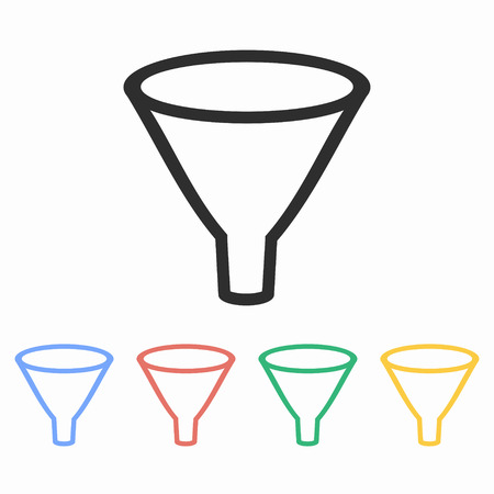 Funnel vector icon. Illustration isolated for graphic and web design.