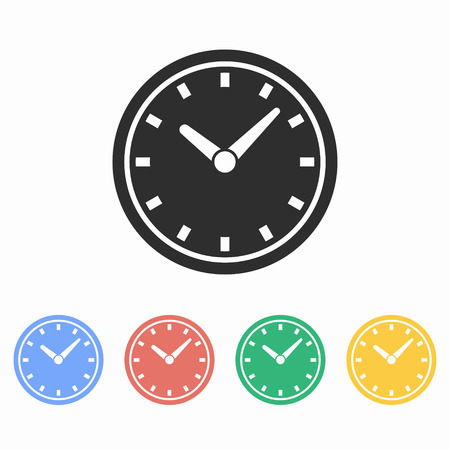 Clock vector icon. Illustration isolated for graphic and web design.
