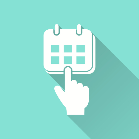 note pad: Planning calendar vector icon. Illustration isolated for graphic and web design.