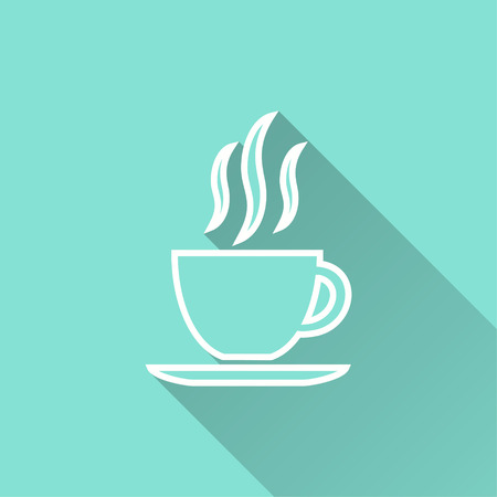 Coffee cup vector icon. Illustration isolated for graphic and web design. Illustration