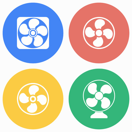Fan vector icons set. Illustration isolated for graphic and web design. Vetores