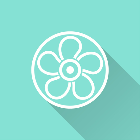 Fan vector icon. Illustration isolated for graphic and web design. Illustration