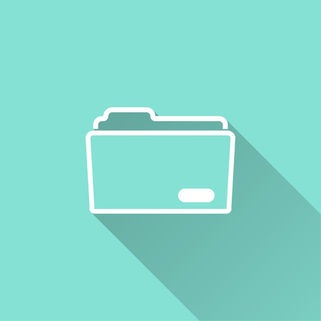 Folder vector icon. Illustration isolated for graphic and web design. Illustration