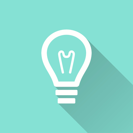 Lamp vector icon. Illustration isolated for graphic and web design. Illustration