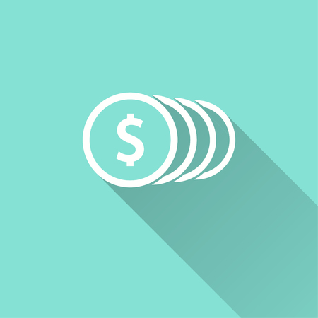 Salary vector icon. Illustration isolated for graphic and web design. Illustration