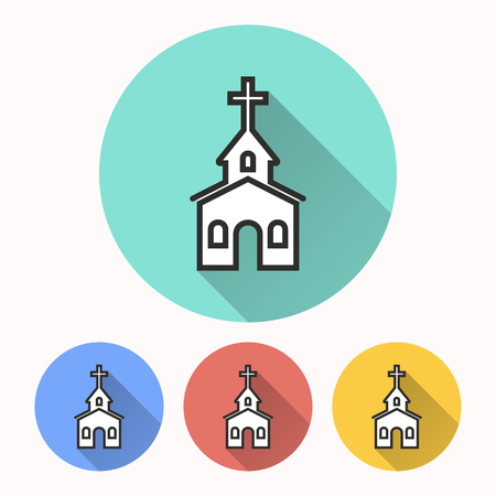 pastor: Church vector icon. Illustration isolated for graphic and web design. Illustration
