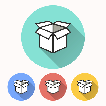 stockpile: Box vector icon. Illustration isolated for graphic and web design.