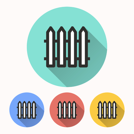 Fence vector icon. Illustration isolated for graphic and web design.