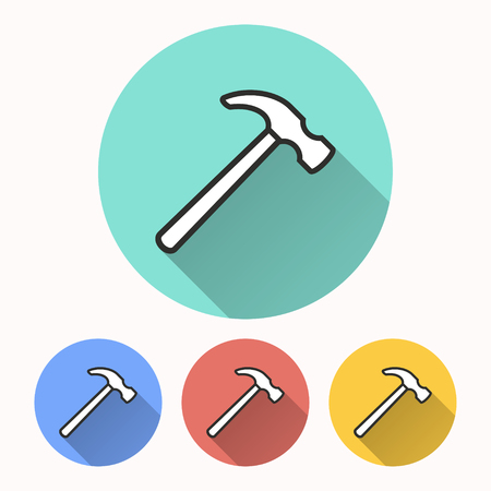 Hammer vector icon. Illustration isolated for graphic and web design. Illustration