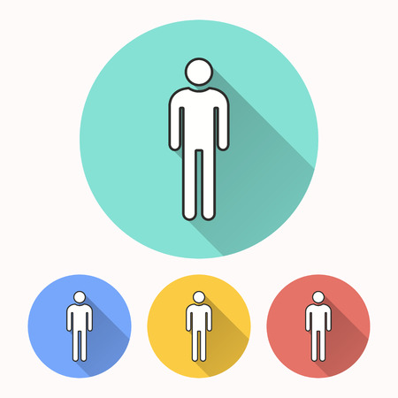 Man vector icon. Illustration isolated for graphic and web design.