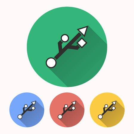 Usb vector icon. Illustration isolated for graphic and web design. Illustration