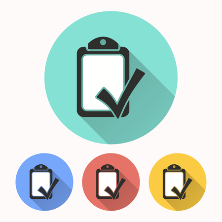 Checklist vector icon. Illustration isolated for graphic and web design.