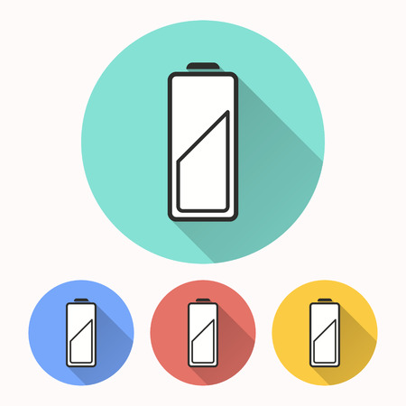Battery vector icon. Illustration isolated for graphic and web design.