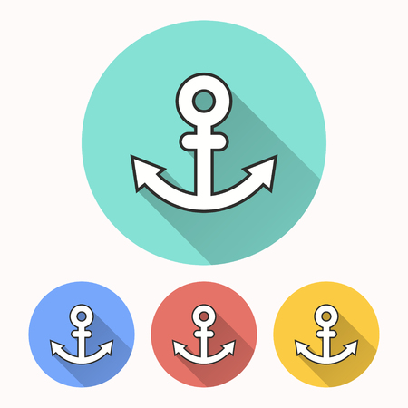 Anchor vector icon. Illustration isolated for graphic and web design.