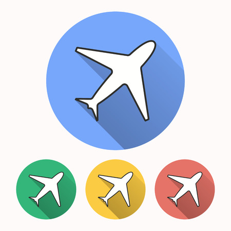 Airplane vector icon. Illustration isolated for graphic and web design.