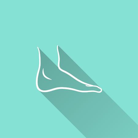Ícone do vetor do pé. Ilustração isolada para design gráfico e web.