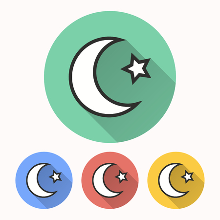 Moon star vector icon. Illustration isolated for graphic and web design. Illustration